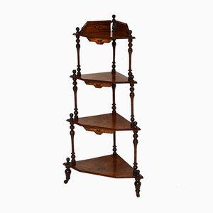 Antique Victorian Walnut 'Whatnot' Shelf