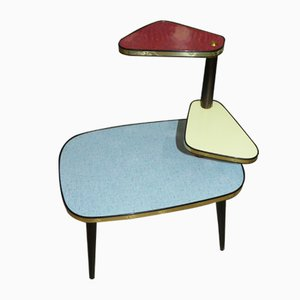 Mid-Century Pastel Colored Flower Side Table, 1950s