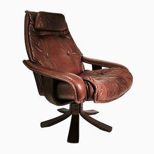Danish Leather Armchair, 1980s
