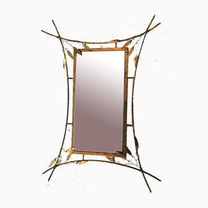 Large Oriental Style Mirror, 1950s