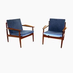 Danish Lounge Chairs by Arne Vodder for Glostrup Møbelfabrik, 1950s, Set of 2