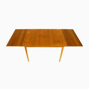 Swedish Teak Extendable Dining Table, 1960s