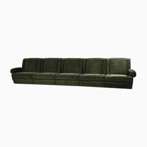 Moss Green 5-Piece Modular Sofa, 1960s, Set of 5