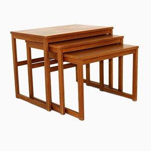 Tavolini a incastro di Svante Skogh per Seffle Möbelfabrik, Svezia, anni '60, set di 3