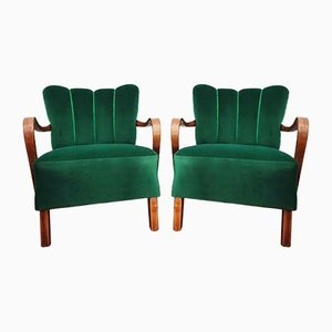 Czechoslovakian H 237 Armchairs by Jindřich Halabala for Thonet, 1960s, Set of 2