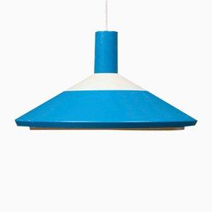 Plafonnier Pendule Vintage Bleu Azur de Louis Poulsen, 1970s