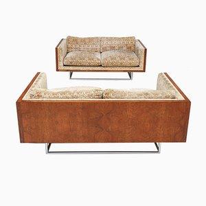 Loveseats in Original Upholstery by Milo Baughman, 1971, Set of 2