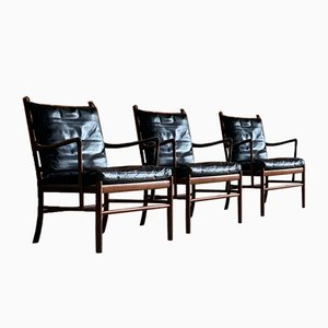 Danish Model 149 Rosewood Armchairs by Ole Wanscher for Poul Jeppesens Møbelfabrik, 1950s, Set of 3