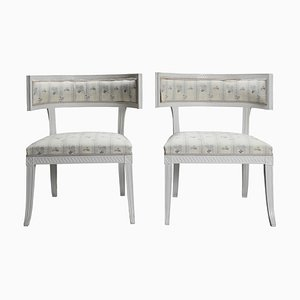 Swedish Late Gustavian Klismos Chairs, 1790s, Set of 2