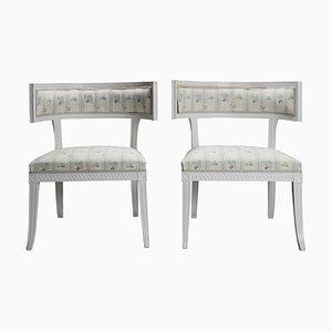 Swedish Late Gustavian Klismos Chairs, 1790s, Set of 2