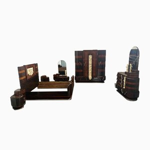 Rosewood Ocean Liner Furniture Suite from Ducrot, 1920s, Set of 7