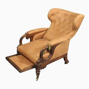 Poltrona Wingback reclinabile Guglielmo IV di George Minter, inizio XIX secolo
