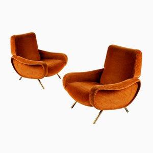 Italienische Triennale Sofa & Lady Armlehnstühle von Marco Zanuso für Arflex, 1950er, 3er Set