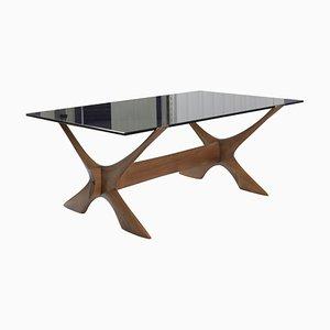 Mid-Century Teak & Glass Coffee Table by Fredrik Schriever-Abeln for Örebro Glas
