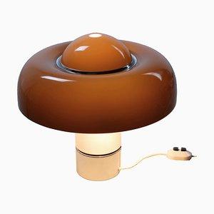 Brumbury Brown Table Lamp by Luigi Massoni for Guzzini, 1970s