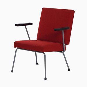 Roter 1401 Armlehnstuhl von Wim Rietveld für Gispen, 1950er