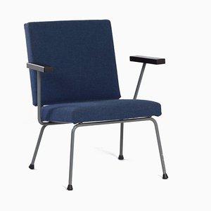 Blauer 1401 Armlehnstuhl von Wim Rietveld für Gispen, 1950er