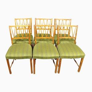 Dänische Esszimmerstühle aus Nussholz, 1940er, 6er Set