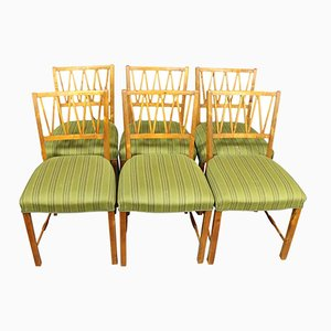 Danish Walnut Dining Chairs, 1940s, Set of 6