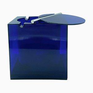 Blue Acrylic Ice Box Bucket by Cini & Nils Studio O.P.I. Milano, Italy, 1974