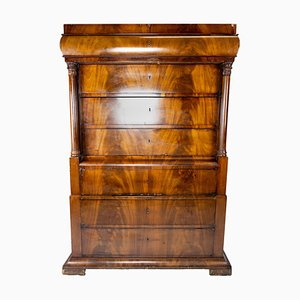 Late Empire Style Chiffonier in Mahogany with Carvings, 1840s