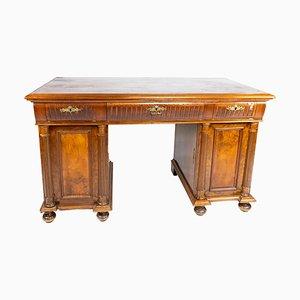 Large Antique Desk in Walnut, 1890s