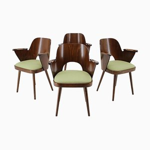 Dining Chairs by Oswald Haerdtl, Czechoslovakia, 1960s, Set of 4