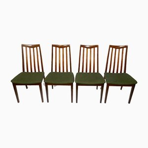 Vintage Teak and Fabric Dining Chairs by Leslie Dandy for G-Plan, 1960s, Set of 4