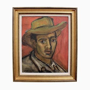 Jacqueline Padovani, Le Gardian, años 50, óleo sobre lienzo
