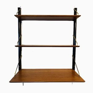 Teak Wall Hanging Shelf by Poul Cadovius, 1960s