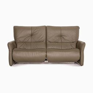 Cumuly Green Leather 3-Seater Sofa from Himolla