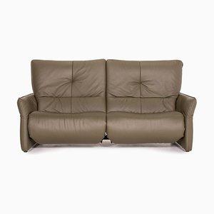 Cumuly Leder 3-Sitzer Sofa in Grün von Himolla
