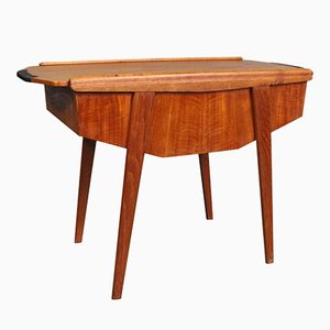 Danish Teak Sewing Table with Sliding Top