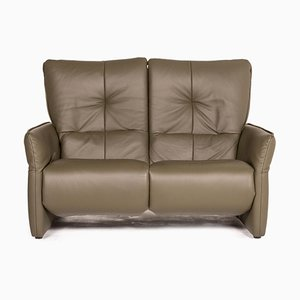 Cumuly Green Leather 2-Seater Sofa from Himolla