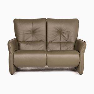 Cumuly Leder 2-Sitzer Sofa in Grün von Himolla