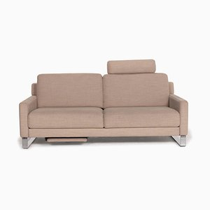 Ego 2-Seat Fabric Sofa in Beige by Rolf Benz
