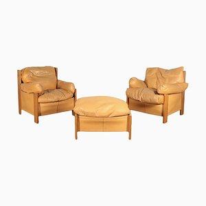 Stühle mit Fußstütze, 1980er
