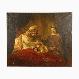 Jacob Blesses Joseph's Sons, huile sur toile
