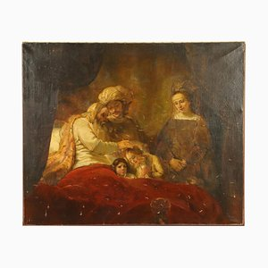Jacob Blesses Joseph's Sons, Oil on Canvas