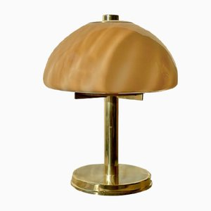 Große Mushroom Swirl Tischlampe, 1970er