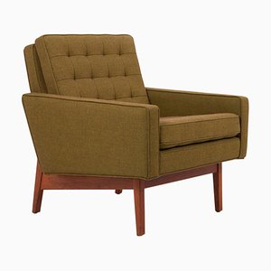 Newly Upholstered Lounge Chair in Risom Camira Fabric by Jens Risom, US, 1950s