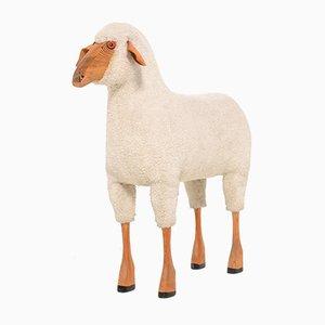 Escultura de oveja de lana de Hanns-Peter Krafft para Meier, años 70