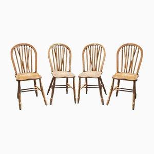 Irish Style Red Cross Chairs, 1940, Set of 4