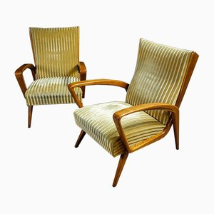 Mid-Century Yellow Armchair by A.A. Patijn, 1950s
