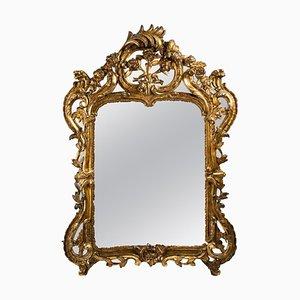 Spiegel im Louis XV Stil aus Vergoldetem Holz