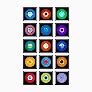 Vinyl Collection Fünfzehnerfarbige Installation, Pop Art Photography, 2017