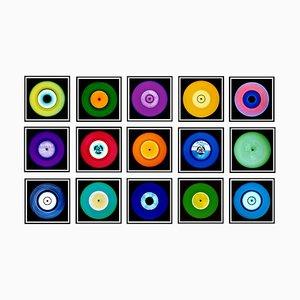 Vinyl Collection Fünfzehnteilige Installation, Pop Art Farbfotografie, 2017