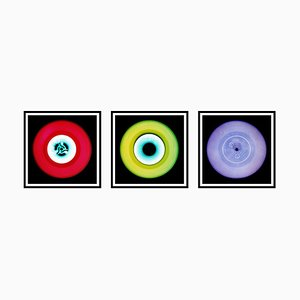 Vinyl Collection, Rot, Grün, Lila Trio, Pop Art Farbfotografie, 2014-2017