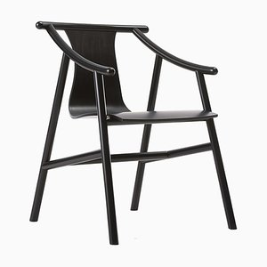 Model 03 01 Black Chair by Vico Magistretti