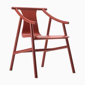 Silla modelo 03 01 roja de de Vico Magistretti